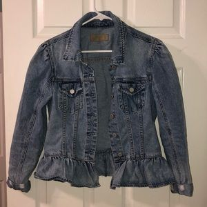 medium blue jean jacket!!
